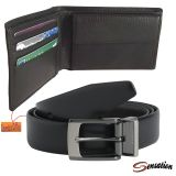 Sensation Combo Of Mens Black Casual Belt And Wallet