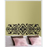 Gloob Decal Style Floral Pattern Wall Sticker (30*8)