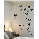 Gloob Decal Style Butterflies Wall Sticker (28*36)