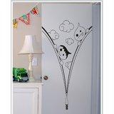 Gloob Decal Style Cartoon Zip Wall Sticker (25*32)