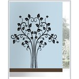 Gloob Decal Style Tree Wall Sticker (68*64)