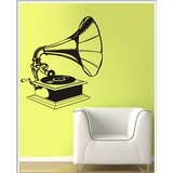 Gloob Decal Style Gramophone Wall Sticker (21*24)