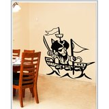 Gloob Decal Style Pirate Wall Sticker (33*36)