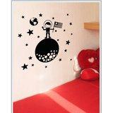 Gloob Decal Style Around World Wall Sticker (32*32)