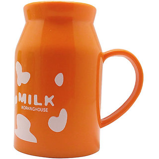 Tuelip Drinking Hot Beverages Milk Mug For Kids ,Birthday Return Gifts - Orange