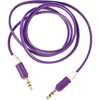 Flat Aux Stereo 3.5mm Music Transfer Car Auxiliary Cable for Mobiles, Car Auxiliary and Speakers (Purple)