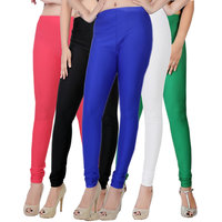 Fashion And Freedom Pack of 5 Satin Leggings