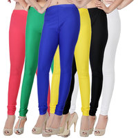 Fashion And Freedom Pack of 6 Satin Leggings