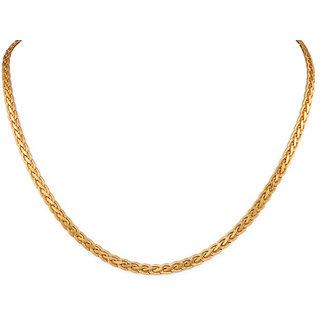 Moda Stella 22 Karat Laquer Gold Plated Flat S choti Unisex Chain