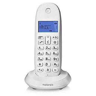 MOTOROLA CORDLESS TELEPHONE C 1001 LBI WHITE