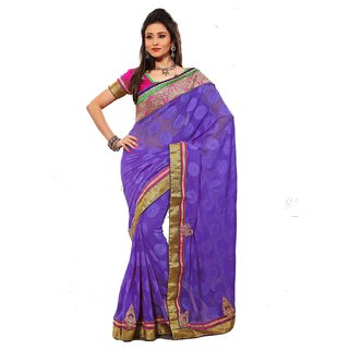 Monalisa Party Wear Pink Bhagalpuri Chex Embroidered Saree