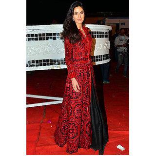 Katrina Kaif Red Banglori Silk Gown