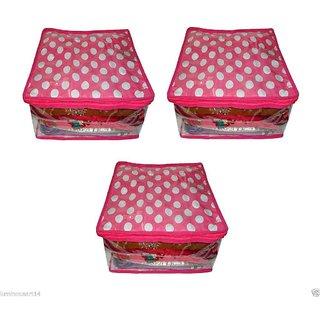 Atorakushon Pack 3pc Saree Salwar Suit Cover Dress Protection Cover Garment Storage Box Bag