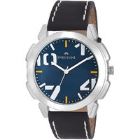Swisstone SW-GR102-BLU-BLK Blue Dial Black Strap Analog Wrist Watch For Men/Boys