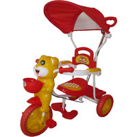 HLX-NMC HAPPY TIGER KIDS ROCKING TRICYCLE - RED/YELLOW(EASY ASSEMBLY EDITION)