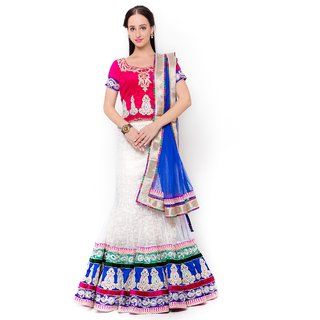 Triveni Awesome Flared Patterned Wedding Wear Net Lehenga Choli 10012