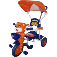 HLX-NMC HAPPY TIGER KIDS ROCKING TRICYCLE - BLUE/ORANGE (EASY ASSEMBLY EDITION)