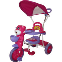 HLX-NMC HAPPY TIGER KIDS ROCKING TRICYCLE - PINK/PURPLE (EASY ASSEMBLY EDITION)