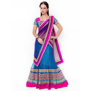 Triveni Luxurious Embroidered Wedding Wear Net Lehenga Choli 10016