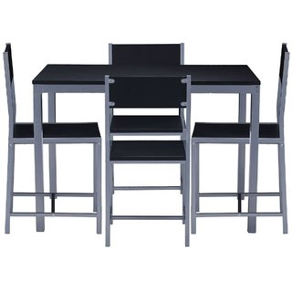 Four Seater Dining Table Set Black Available At ShopClues For