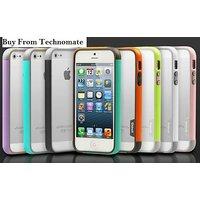 Apple Iphone 5 / 5s Latest Multi Color Backless Bumper Walnutt Trio Pc & Tpu Bum