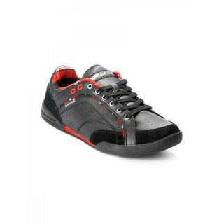 Gas Men's Black & Red Casual Shoes (Option 2)
