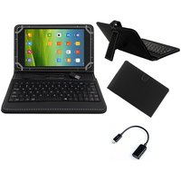 Krishty Enterprises 7inch Keyboard/Case For Micromax Canvas Tab P701 Tablet - BLACK With OTG Cable