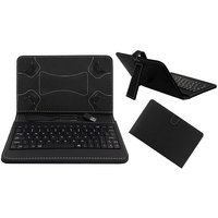 Krishty Enterprises 7inch Keyboard/Case For Micromax Canvas Tab P480 - BLACK With OTG Cable