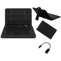 Krishty Enterprises 7inch Keyboard/Case For IBall 3G 6095-D20 - Black With OTG Cable