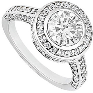 Lovebrightjewelry Pretty Diamond 14K White Gold Engagement Ring-1.50 Ct