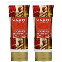 Value Pack Of 2 Chandan Kesar Haldi Fairness Face Pack (120 Gms X 2)
