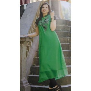 Party Wear georgette Full Length Kurtis
