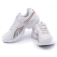 Reebok Men'S White Red Lace-Up Running Shoes