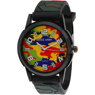 Swissarmy Multi-Color Analog Casual Wear Watch For Men With Fauji Style