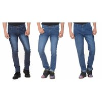 Pack of 3 - Vrgin Slim Fit Streachable Blue Jeans