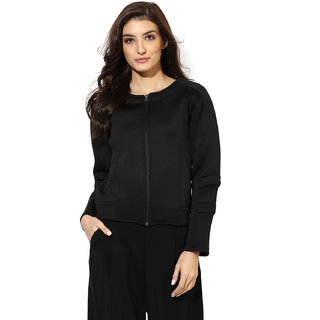 Cashewnut Women Basic Solid Jackets