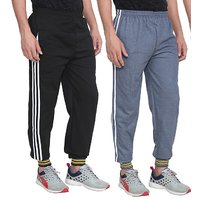 Swaggy Solid Men's Track Pant Combo of 2