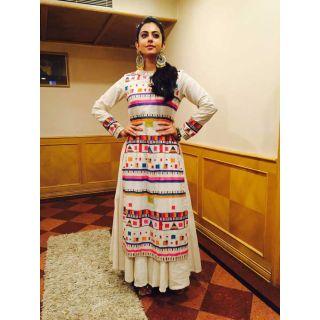 Style Amaze Present Designer White Salwar Suit Without Dupatta