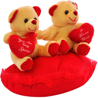 DealBindaas Heart In Hand Couple Valentine Stuff Teddy