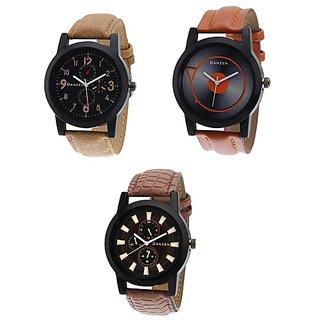 Danzen combo of Three mens Watches dz-444-445-446