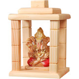 IDeals Divine Wooden Statue Of Lord Ganesha