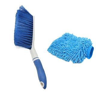 Carpet Brush Microfibre Wet and Dry Brush with 1Microfibre Gloves