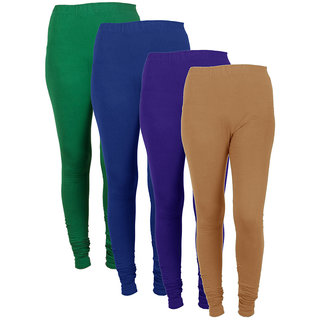 IndiWeaves Women Combo Offer (Pack of 4 Legging)