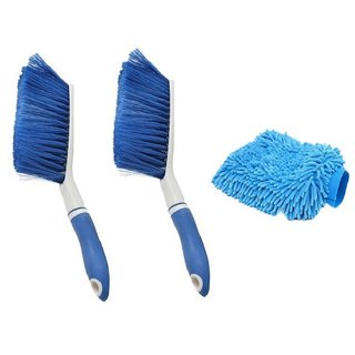 2Carpet Brush Microfibre Wet and Dry Brush with 1Microfibre Gloves