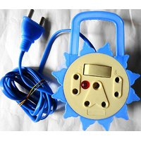 Round Power Strip Hangable Mutipurpose Long Wire Extension Cord (3 Socket)