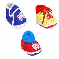 Brats N Angels Multicolour Shoes - Pack of 3