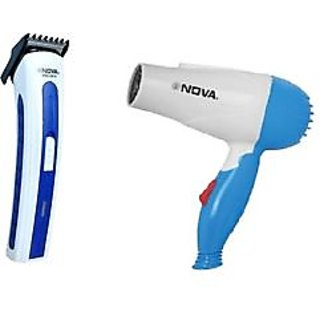 Combo Rechargeable Trimmer  Foldable Hair Dryer 1000watt
