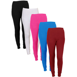 IndiWeaves Women Combo Offer (Pack of 5 Legging)