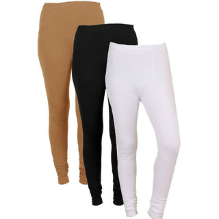 IndiWeaves Women Combo Offer (Pack of 3 Legging)