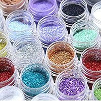 MAKE A GLAMOUR FROM EYECARE 12 COLOR SHIMMER GLITTER FOR BEAUTY QUEEN + Free One Lip Liner And Sponge